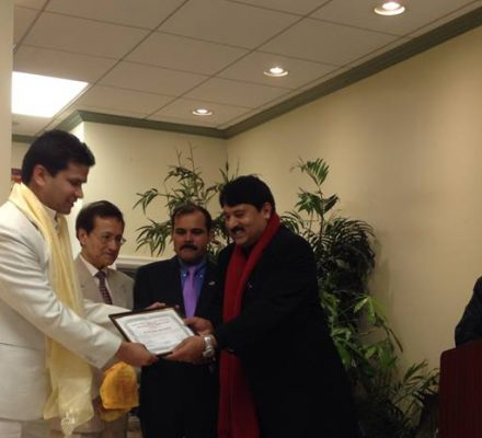 Kiran Honoured in USA