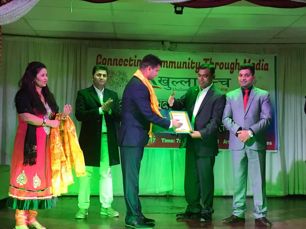 khullamanch award to kiran marahatta